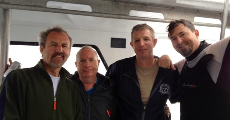 Didier (Go Dive Florida), Mark (Go Dive Florida), Carl and me after completing our ER/Trimix class.